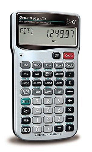 Calculated Industries 3415Qualifier Plus IIIx Immobilien Finanzen Taschenrechner