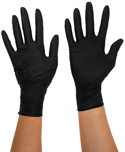 Semperguard 3000003333 Einmalschutz und Untersuchungshandschuh aus Nitrillatex, puderfrei, Größe XL, 9-10, Schwarz (90 er-Pack)