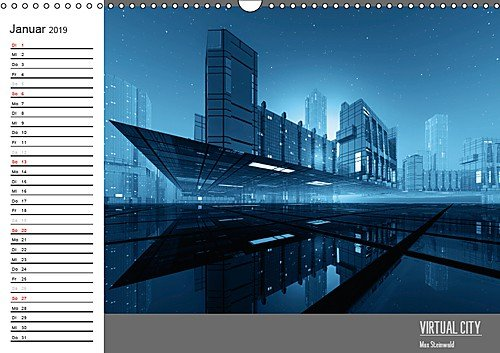 VIRTUAL CITY PLANER 2019 (Wandkalender 2019 DIN A3 quer): Virtuelle Architektur - moderne Stadtansichten - ein moderner Wandkalender als Planer (Geburtstagskalender, 14 Seiten ) (CALVENDO Orte)